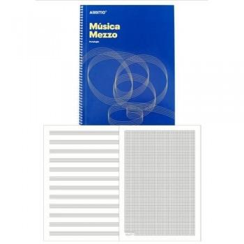 Cuaderno música espiral A4 32 hojas 12 pentagramas Mezzo Additio
