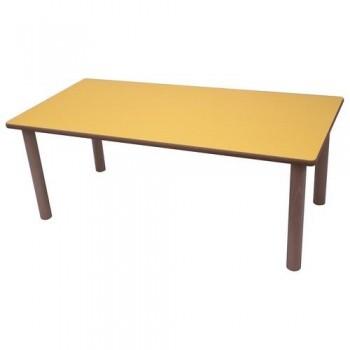 Mesa infantil rectangular madera haya y sobre haya 120x60 cm altura 40 cm Mobeduc