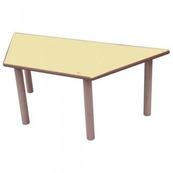 Mesa infantil trapecio madera haya y sobre haya 120x60 cm altura 40 cm Mobeduc