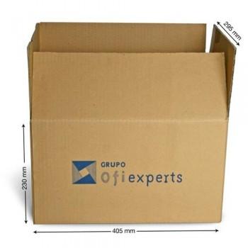 Caja embalaje kraft marrón 405x295x230mm. canal sencillo 5mm. Ofiexperts