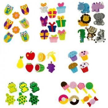 Figuras fieltro adhesivas 3D cupcakes 12 fig. Fixo Kids