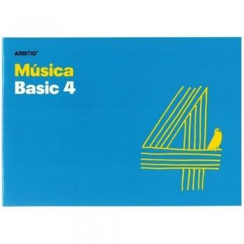 Cuaderno música 24 x 17 cm. 4 pentagramas Additio