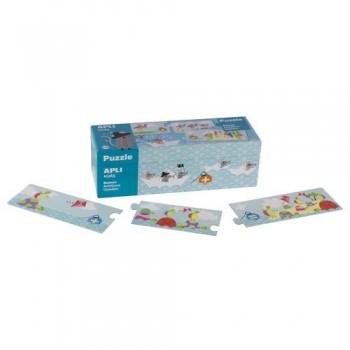 Puzzle 30 piezas caja cartón sumas Náufragos Apli