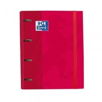 Carpeta A4 4 anillas 35 mm con recambio 100 hojas 90 gr. color rojo Europeanbinders Classic Oxford